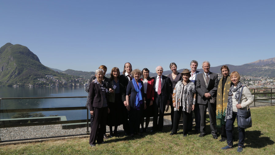 The Welcome Committe of the Club of Budapest Switzerland, at the COB's Venue above Lake Lugano